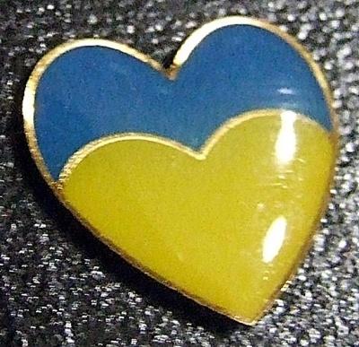 Значок Блакитно-жовте Серце