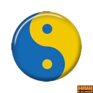 """Значок """"Гармонія"""" (жовто-блакитний, 25мм)"""