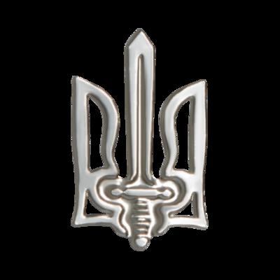 """Значок """"Тризуб УПА"""" сріблястий"""