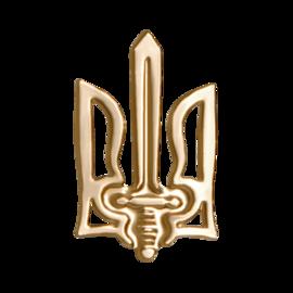 "Значок ""Тризуб УПА"" золотистий - фото книги"